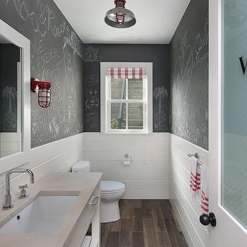 Chalkboard Paint Bathroom, Contemporary, bathroom, Modern Organic Interiors