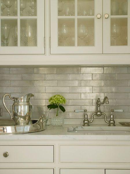 iridescent tile backsplash transitional kitchen brooks falotico. Black Bedroom Furniture Sets. Home Design Ideas