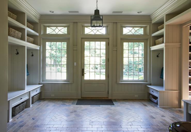 paneled mudroom cottage laundry room brooks falotico. Black Bedroom Furniture Sets. Home Design Ideas