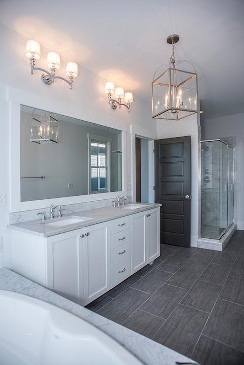 Wood Like Tile Transitional Bathroom Modern Organic Interiors