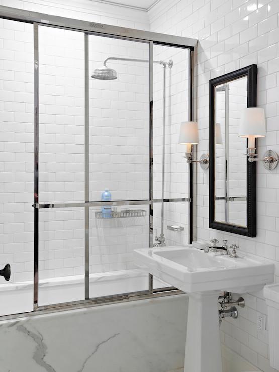 Sliding Shower Door Contemporary Bathroom Rusk Renovations