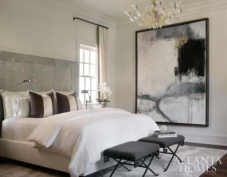 Greek Key Stools Contemporary Bedroom Atlanta Homes Lifestyles