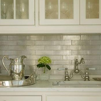 Iridescent Kitchen Backsplash Design Decor Photos