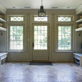 Paneled Mudroom, Cottage, laundry room, Brooks & Falotico