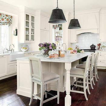 Alabama White Granite, Cottage, kitchen, Suzanne Kasler