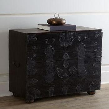 Storage Furniture - Wedding Chest I Horchow - black wedding chest, vintage wedding trunk, black wedding trunk, black storage chest, black storage trunk,
