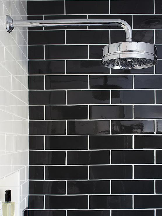 design bathrooms black subway tile black ceramic tile white