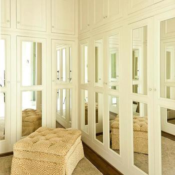Mirrored Closet Doors, Transitional, closet, Cantley and Company