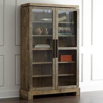 Storage Furniture - Eden Cabinet I Horchow - reclaimed wood cabinet, reclaimed glass front cabinet, contemporary reclaimed wood cabinet, reclaimed wood glass front cabinet,