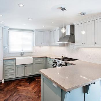 pale-blue-kitchen-cabinets - Design, decor, photos, pictures ...
