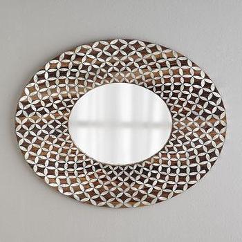 Floral Capiz Mirror I Horchow