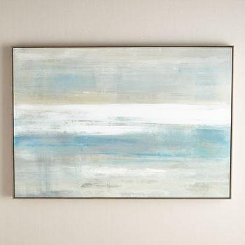 Art/Wall Decor - Benson-Cobb Studios Beneath Giclee I Horchow - blue abstract, blue and white abstract art, beach abstract art, sky abstract art,