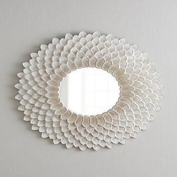White Circle Blossom Floor Mirror Pottery Barn Kids