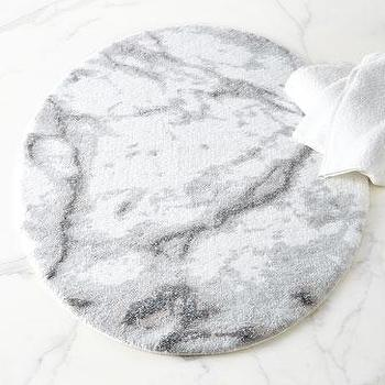Bath - Abyss & Habidecor Carare Oval Bath Rug I Horchow - marble patterned bath rug, marble patterned bath mat, oval shaped marble effect bath rug, marble effect bath rug,