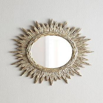 Mirrors - Sunrays Mirror I Horchow - seashell sunburst mirror, seashell sunray mirror, round shell mirror, round seashell mirror,