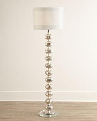 isla mercury glass floor lamp i horchow mercury glass floor lamp. Black Bedroom Furniture Sets. Home Design Ideas
