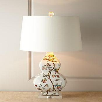 Lighting - Scalamandre Maison by Port 68 Chinoise Exotique Lamp I Horchow - floral patterned lamp, chinosierie floral lamp, scalamandre lamp, scalamandre gourd lamp, floral gourd lamp,