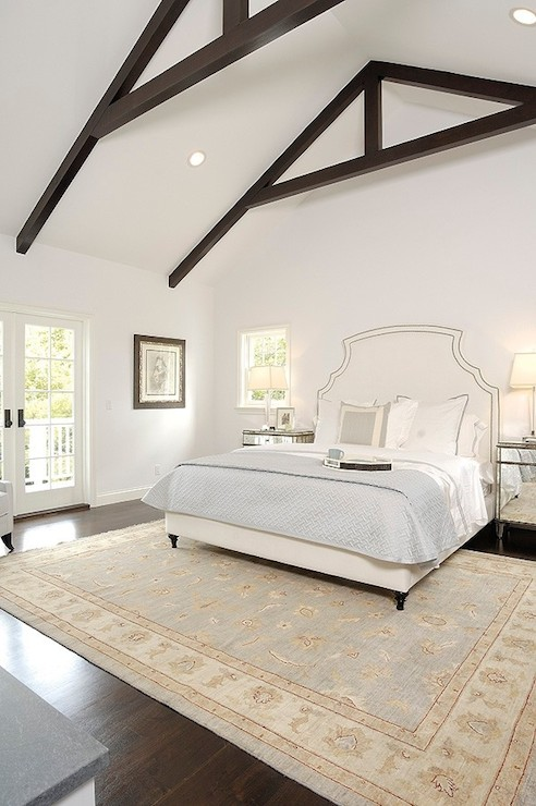 Vaulted bedroom ceiling transitional bedroom core Master bedroom lighting ideas vaulted ceiling