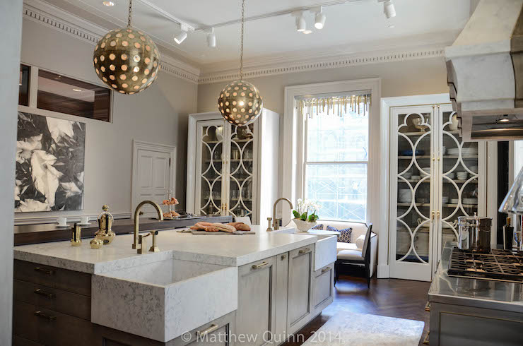 Glam Bathroom By Matthew Quinn: Corner Kitchen Sink