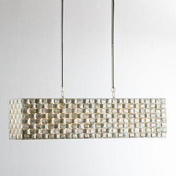 Lighting - Capiz Buffet Pendant Light I Horchow - capiz shell pendant, capiz island pendant, rectangular capiz pendant, rectangular capiz chandelier,