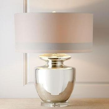 Lighting - Winnie Table Lamp I Horchow - silver urn table lamp, polished chrome table lamp, polished chrome urn lamp,