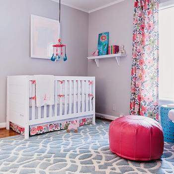 Pink and Blue Nursery, Contemporary, nursery, Colordrunk Design