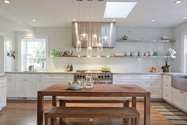 floating stainless steel shelf transitional kitchen wm f holland architect. Black Bedroom Furniture Sets. Home Design Ideas