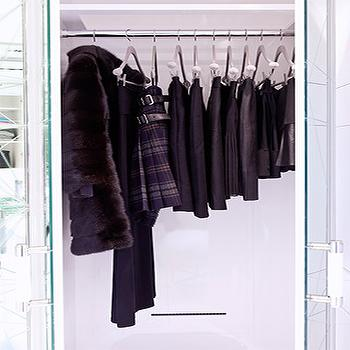 Mirrored Closet Doors, Contemporary, closet, Closette