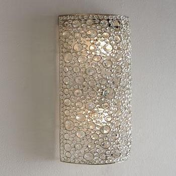 Lighting - Four Hands Scattered Crystal Sconce I Horchow - crystal wall sconce, round crystal wall sconce, crystal bead wall sconce,