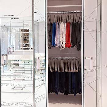 Mirrored Closets, Contemporary, closet, Closette