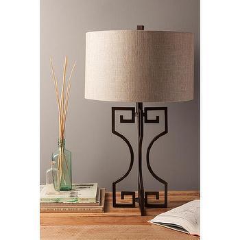 Happy Chic By Jonathan Adler Elizabeth Greek Key Lamp I