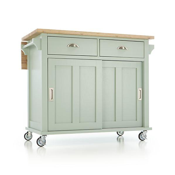Belmont Mint Kitchen Island - Crate and Barrel