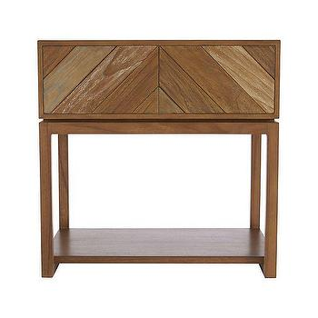 Storage Furniture - Chevron Nightstand | Crate and Barrel - chevron nightstand, chevron front nightstand, modern chevron nightstand,