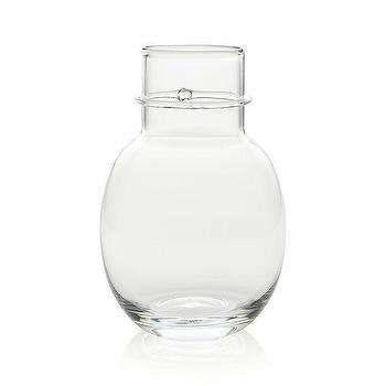 Decor/Accessories - Lauren Vase | Crate and Barrel - artisanal glass vase, handcrafted glass vase, handblown clear glass vase,