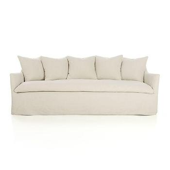 Seating - Serene Slipcovered Sofa | Crate and Barrel - linen slipcovered sofa, slipcovered sofa with loose cushions, slipcovered shelter sofa,