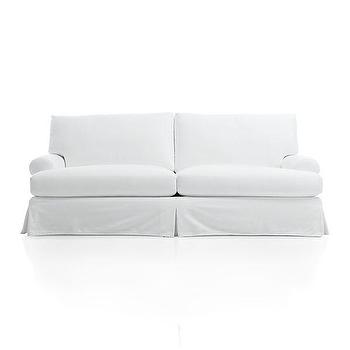 Seating - Ellyson Slipcovered Sofa | Crate and Barrel - white slipcovered sofa, white roll arm sofa, roll arm slipcovered sofa,