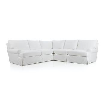 Seating - Ellyson Slipcovered 2-piece Sectional | Crate and Barrel - white cotton slipcovered sectional, white slipcovered sectional, white roll arm sectional, white slipcovered sectional sofa,