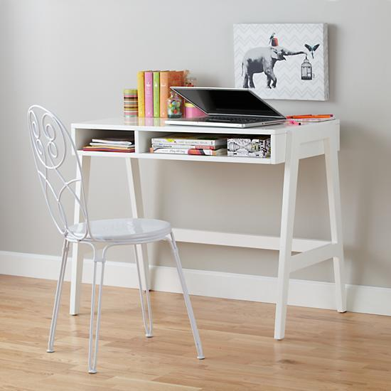 Prairie School Desk White The Land of Nod