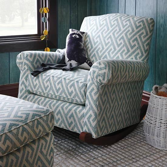 Teal Upholstered Nursery Rocking Chair The Land Of Nod