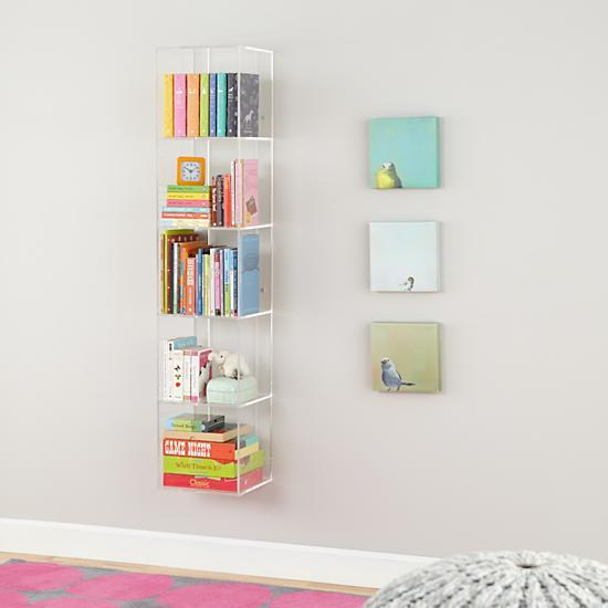 now you see it acrylic bookcase in bookcases the land of nod. Black Bedroom Furniture Sets. Home Design Ideas