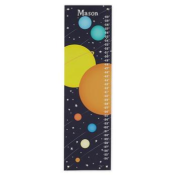 Art/Wall Decor - Solar System Growth Chart | The Land of Nod - solar system growth chart, space themed growth chart, outer space growth chart,