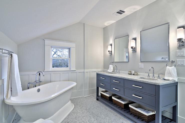 Corner Bathtub Contemporary Bathroom Benjamin Moore Horizon Avenue B