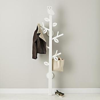 Kids White Owl Clothes Tree, The Land of Nod