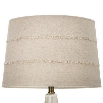 Lighting - Nate Berkus Fringe Lamp Shade - Cream I Target - linen shade, tapered linen drum shade, fringed linen shade, fringed linen lamp shade,