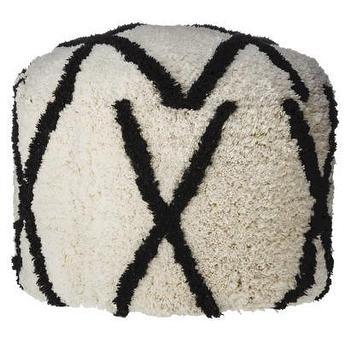 Seating - Nate Berkus Moroccan Shag Pouf I Target - shag pouf, moroccan shag pouf, woven moroccan pouf,