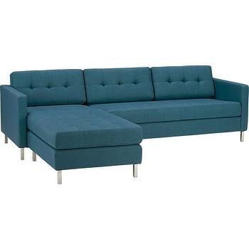ditto peacock sectional, CB2