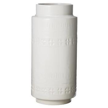 Decor/Accessories - Nate Berkus Stamped Vase I Target - white stamped vase, modern white stoneware vase, stamped white stoneware vase,