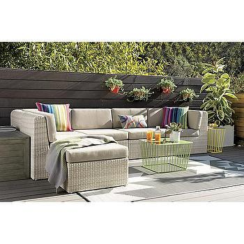 Seating - ebb outdoor sectional pieces | CB2 - gray woven outdoor sectional, modern gray woven outdoor sectional, modern gray outdoor sectional,