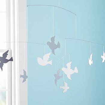 Decor/Accessories - Mirrored Bird Mobile | Pottery Barn Kids - mirrored bird mobile, bird mobile, flying bird mobile,