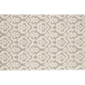 Rugs - Block Damask Rug - Gray | Pottery Barn Kids - gray damask rug, gray and ivory damask rug, gray damask print rug,